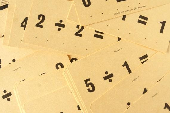 Division New Math Vintage Teach-me New Math