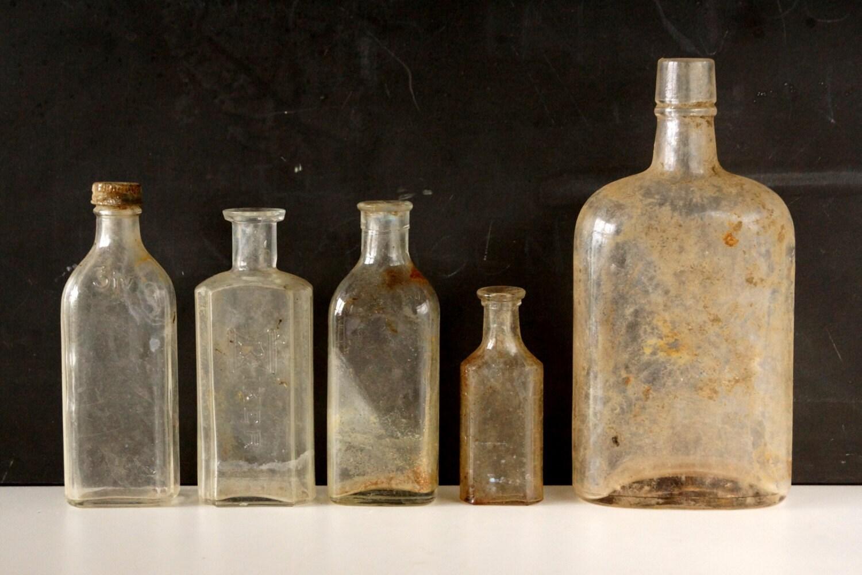 Antique vintage medicine bottles apothocary by thirdshift for Halloween medicine bottles
