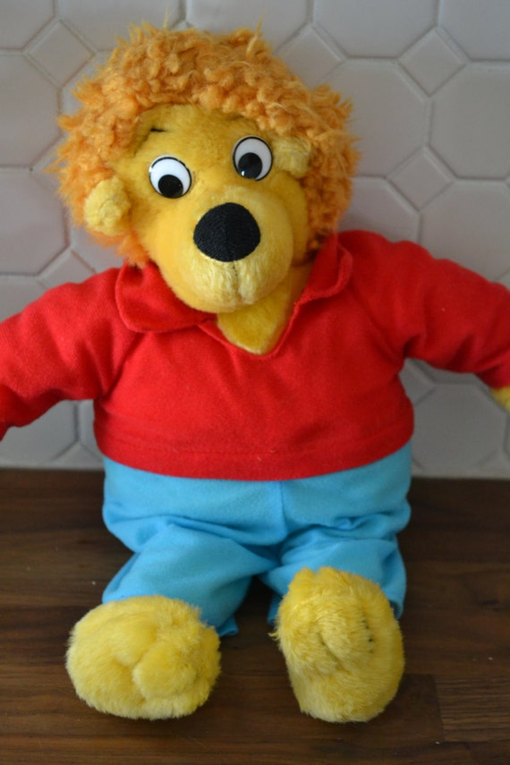 REDUCED 1980s Berenstain Bears Brother Bear Stuffed by caddywampus