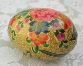 Indian Floral Egg, hand-painted, Eggs from 'Round the World