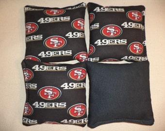 Cornhole bags San Francisco 49ers cornhole bean bags 4 corn hole bags bean bags
