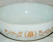Lovely Vintage Pyrex Golden Tulip Casserole Dish - 1959 Promotional Dish
