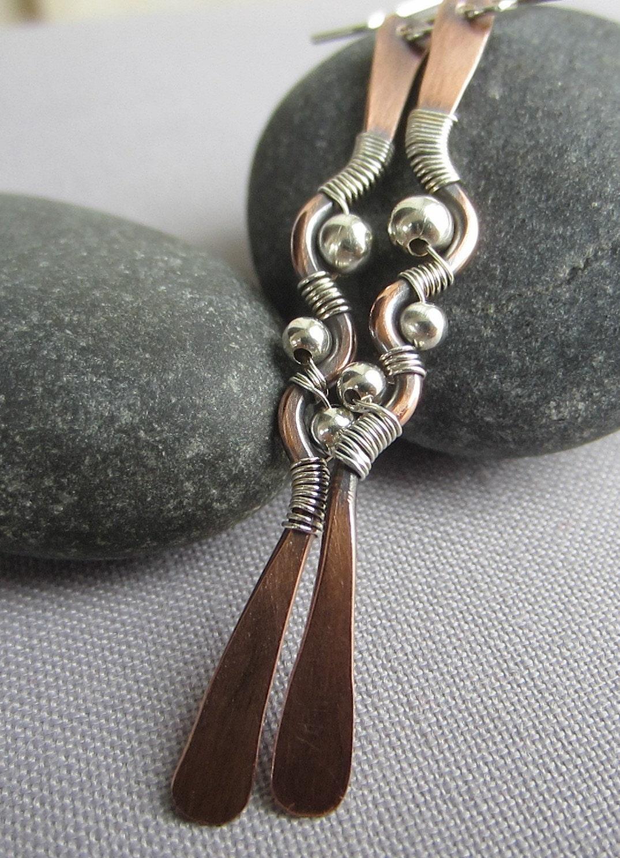 Copper Earrings For Sale