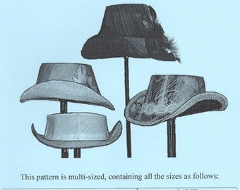 TV550 - Truly Victorian #550 - 1870s-1880s Buckram Hat Frames Sewing Pattern