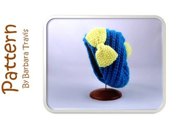 Knitting Pattern Baby Child Spiral Slouch Beret 3 Sizes, Small, Medium, Large