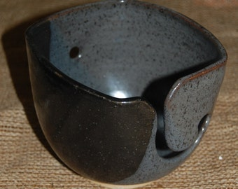 Slate Square Medium Yarn Bowl
