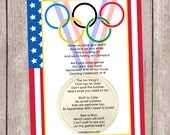 Olympic Games- A Party Invitation, Personalized and Printable, 5x7