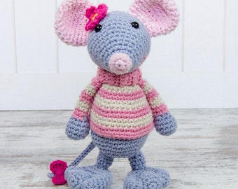 Emily the Mouse Amigurumi - PDF Crochet Pattern - Instant Download - Amigurumi crochet Animal Cuddy Stuff Plush