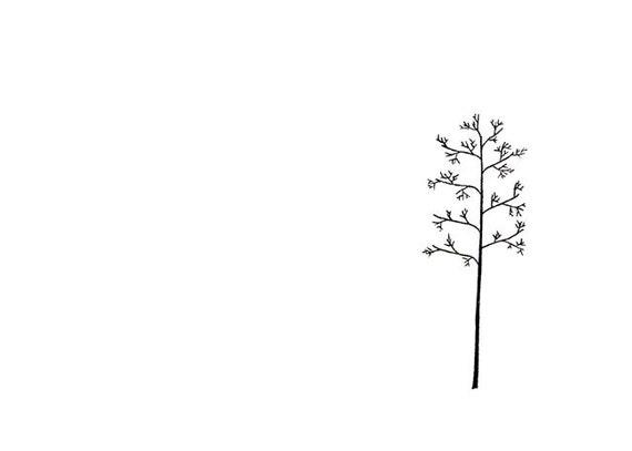 Minimalist Line Art : Minimalist art print tree line drawing the winter s