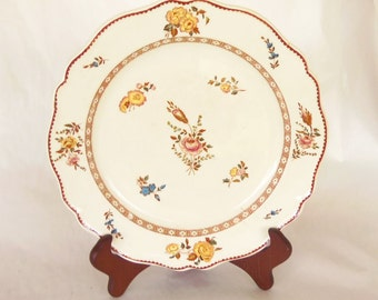 Wedgwood Plate - QueensWare - 1871 - Transferware, Sevres Sprig Pattern - Made in England Marked