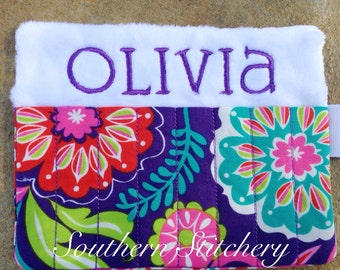 Personalized Crayon Holder Flower Crayon Roll Great for Gifts Flower Girl Ring Bearer Stocking Stuffer