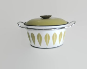 Cathrineholm lotus pot / dutch oven pot / vintage Cathrine holm pot with lid / lotus / Catherine