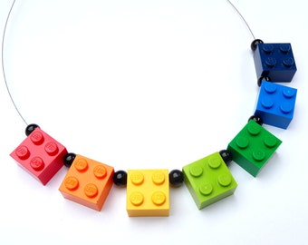 Upcycling Necklace RAINBOW - Happy Jewelry - Handmade Necklace - Upcycling Jewelry geekery edgy crazy eyecatcher bright colourful iconic