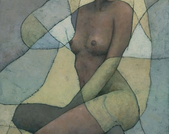 Sonora, Female Figure Painting, Signed Giclee Print