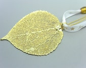 24 Kt Gold Plated Aspen Leaf Ornament