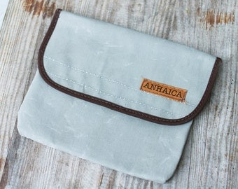 Water resistant bike tool pouch - grey & brown