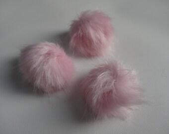 Faux Fur Cat Poms-SWEET PEA-  Set of 3