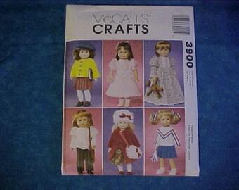 McCalls 3900 Crafts American Girl Pattern .
