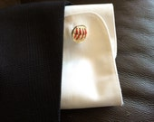 Played game ball MLB baseball Atlanta Braves Manly man sports fanatic hand crafted cuff links