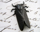 CICADA Rusty Black Brass Stampings - Supplies by AbneyPark (AP6-6045)