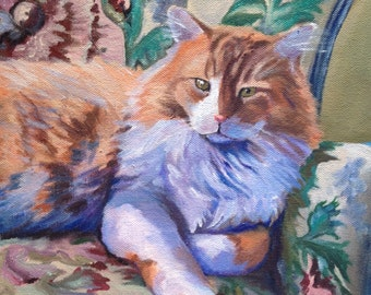 """Custom 10""""x10"""" Pet Portrait by LaPine Design - Acrylic on Gallery Wrapped Canvas"""