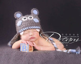 Baby Hippo Hat Photo Prop for Boys