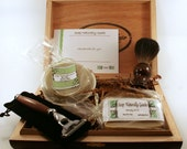 Men's Shaving Kits with Badger Brush, and Hand Turned Mach 3 for Grooming Personalized Groomsmen Gift Custom Orders