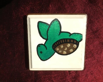 Sea Turtle-- Hand Painted Wooden Sign