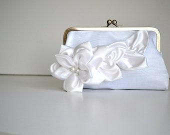 Bridal Wedding Clutch- White Purse  Bridal Accessories-Bridesmaids clutches,Bridal Clutch,Bridesmaid clutch, Wedding Clutch,
