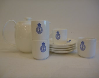 English Demitasse Cups and Saucers