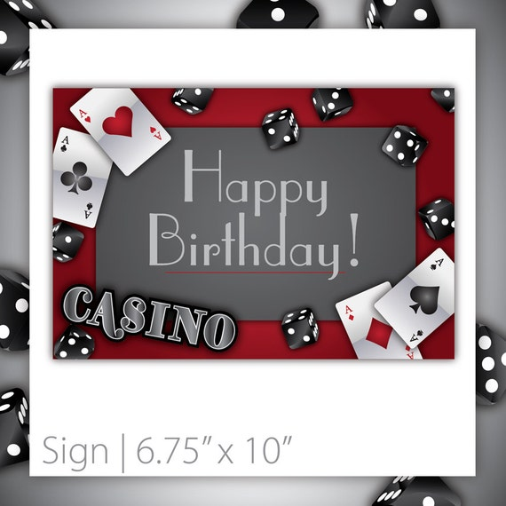 Items Similar To Casino Party Sign