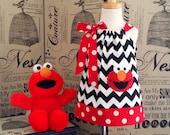 Sesame Street Elmo Dress, Elmo Birthday Dress, Elmo Outfit, Elmo Toddler Dress, Girl Halter Dress, Baby Girl Dress, Elmo 1st Birthday Dress