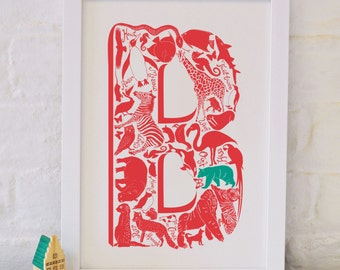 Animal Alphabet Letter B