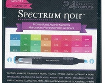 ON SALE!  Spectrum Noir Alcohol Markers - BRIGHTS  - 24 pack