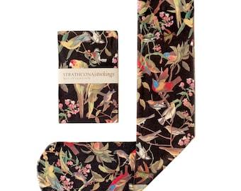 Black Bird Printed Knee-hi Stocking