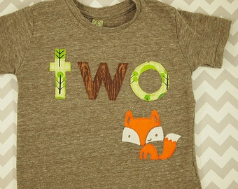 Fox shirt woodland themed birthday shirt toddler tee forest animal
