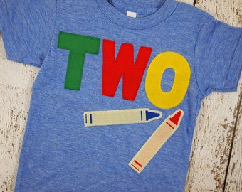 Crayon shirt Primary Colors Birthday Tee Organic Shirt Blend perfect for boys or girls all party themes first second third fourth
