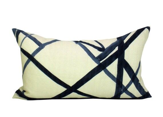 Channels lumbar pillow cover in Periwinkle