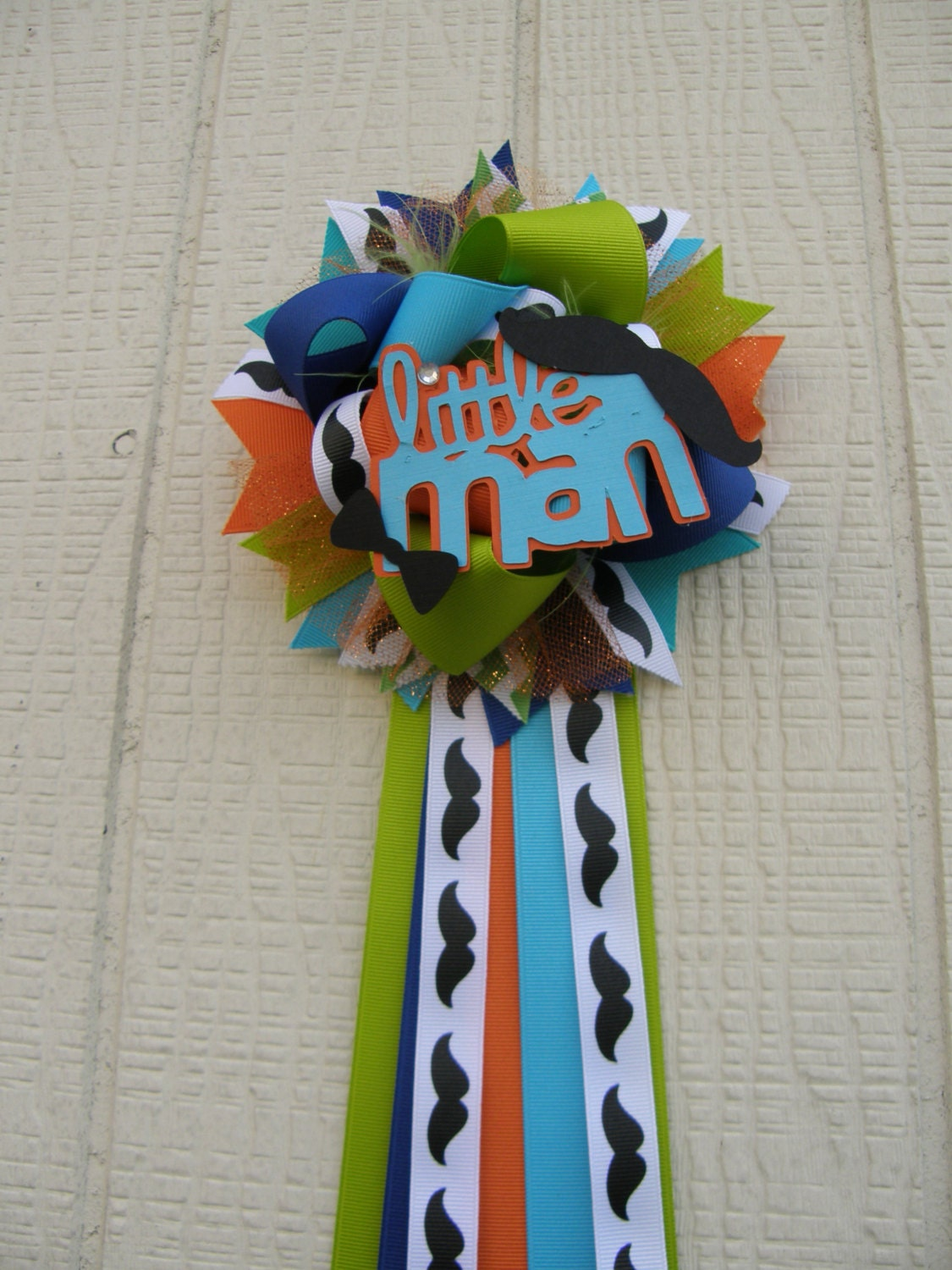 mustache baby shower bow tie baby shower corsage by bonbow on etsy