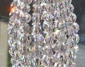 Petite Swarovski CRYSTAL Beaded Light Bulb Cover, Chandelier Shade, Sconce Shade, Candelabra Shade, Lamp Shade