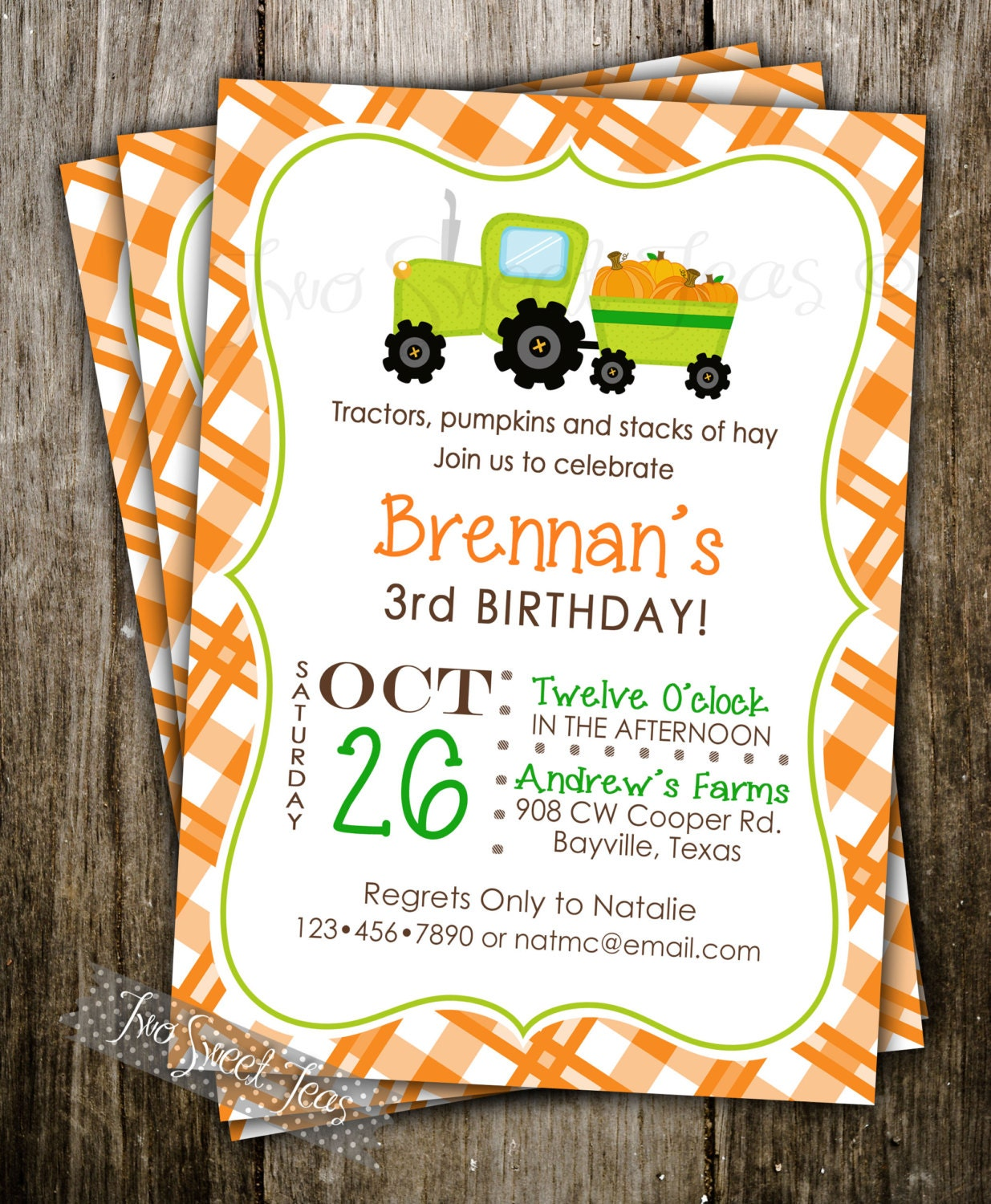 Pumpkin Patch Invitation Birthday Party Halloween By