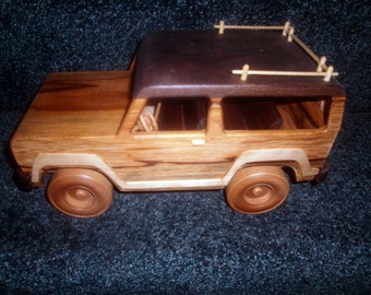 Wooden Ford Bronco Handcrafted