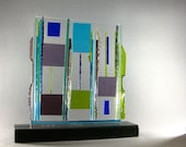 Mid Century Modern Abstract Art Glass Contemporary Sculpture Think Outside The Box Artist Signed