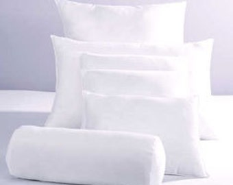 10/90 Down Feather Pillow Insert,  Choose your size, Square, Lumbar, Euroshams
