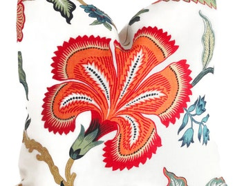 Schumacher Spark Hot House Floral Decorative Pillow Covers 18x18, 20x20 or 22x22, 14x20 or 12x24