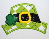Leprechaun Hat Made for Monogram Topper Applique Design Machine Embroidery INSTANT DOWNLOAD