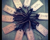 Copper Personalized Luggage Tags with Leather Cord