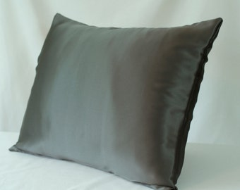 Silk Pillowcase Envelope Closure Soft Espresso By
