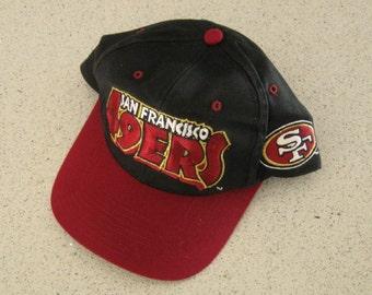 San Francisco 49ers Baseball Hat, Cap, Eastport Vintage Snap Back