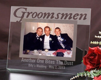 Engraved Groomsmen Glass Picture Frame -gfyG927841